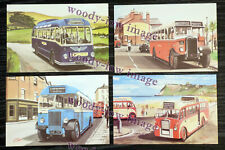 bu047 - 4 artist postcards of Single Deck Buses by G S Cooper - Mint Condition