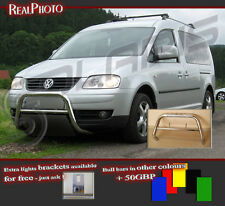 VOLKSWAGEN CADDY 2003-2009 BULL BAR WITHOUT AXLE BARS +GRATIS!!! STAINLESS STEEL