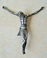 Christ En Argent massif Coulé 18ème Siècle - religion