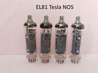 4 pcs EL81 Tesla ( E81L / 6CJ6 / CV2721 ) vintage audio tubes Tested NOS