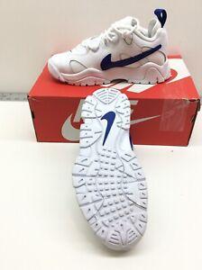 Nike Kid's Air Barrage GS Shoes White/Hyper Blue CK4355-100 Size 5Y US