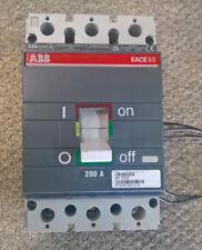 ABB SACE S3 S3N200 S3N200TWA/APC 0M-2502 Circuit Breaker w/Aux Switch