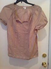 Caslon (Nordstrom) peasant blouse Size Large New