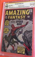 Amazing Fantasy #15 CBCS 9.0 Rest 1962 Comic Book Signed Stan Lee - Spider-Man 1