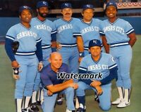 MLB 1982 Kansas City Royals George Brett Hal McRae and Mates Color 8 X 10 Photo
