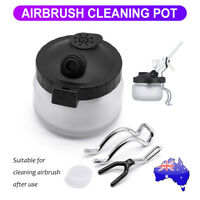 Airbrush Cleaner Air Brush Clean Pot Cleaning Station Glass Jar Bottles Holder
