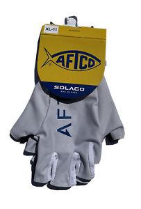 Aftco men's large silver Solago sun gloves