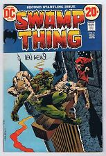 Swamp Thing #2 Fine Signed by Len Wein w/COA 1972 OWP DC Comics PWC