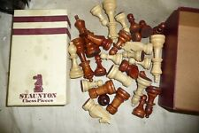 Toys board game chess STAUNTON Tournament quality 29 wood pieces 9cm tall KING