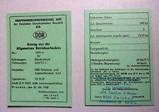 ABE Betriebserlaubnis SIMSON  DDR Simme S 51 1 C Comfort KEIN Typenschild dabei