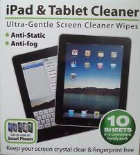 10 feuilles x écran tablette iPad & Nettoyant LCD ultra-gentle 092/544 lingettes nettoyage