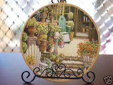 Ceramic Decoration Plate Antique N Flower Shop 20.5cm C