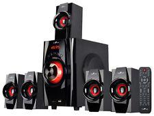 beFree Sound - 5.1-Channel Bluetooth Speaker System - Black/Red
