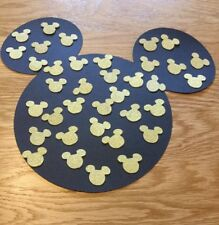 Petit Disney inspiré Mickey Mouse Tête Table Confettis, 100 Gold Glitter chefs