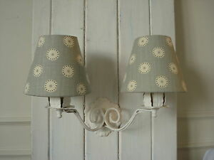 **CANDLE LAMPSHADES**COUNTRY STYLE VANESSA ARBUTHNOTT 'PRETTY MAIDS' DUCK EGG