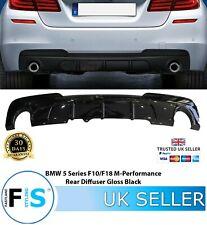 BMW 5 SERIES F10 F11 M PERFORMANCE REAR DIFFUSER VALANCE GLOSS BLACK FOR M TECH