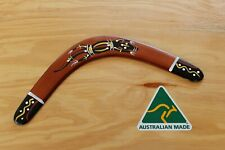 Hand Crafted and Hand Painted Australian Made 34cm Throwing Boomerang (Gecko)