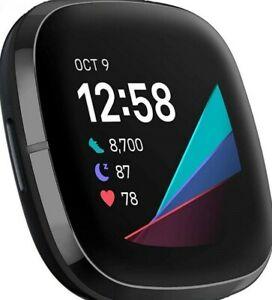 Fitbit Sense Activity Tracker - Carbon/Graphite . REPLACEMENT PEBBLE ONLY