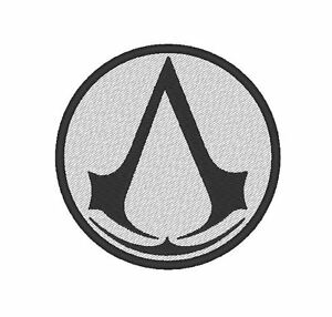 E0114  TV/MOVIE/GAME EMBROIDERED PATCH - ASSASSINS CREED - ASSASSIN INSIGNIA