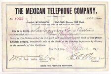 The Mexican Telephone Company NY 1899