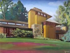 Taliesin Belvedere Quarters Plein Air Oil Painting 2018 From Event Spring Green