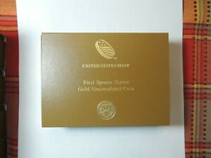 2014 First Spouse Gold Grace Coolidge Uncirculated  COA + Empty Box No Coin HP4