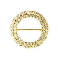 48mm - Crystal Buckle Rings - MYO Browband Supplies - 2 Row - PAIR