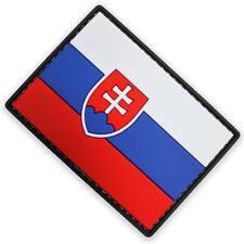 3D PVC Slovakia Slovakian Military Army Tactical National Flag Patch Colour