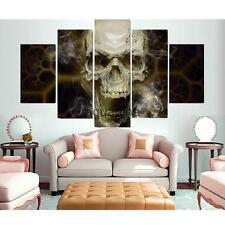 5-Panel Skull Canvas Print Wall Art Oil Painting Picture Home Decor No Frame