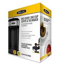 Bella BLA14436 One Scoop One Cup Coffee Maker Black Stainless Steel Pre-Owned