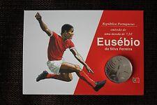 Eusebio Benfica Portugal - coin wallet 7,5 eur special edition silver 18,5 gr