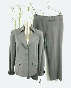 Giorgio Saint Angelo Womens Size 14 Two Piece Pant Set Gray Polyester