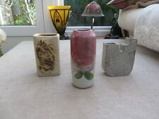 3 studio pottery stunning vases makers mark Ideal Decorators items