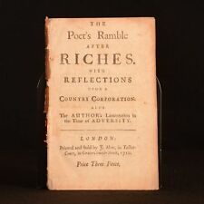 1710 The Poet's Ramble After Riches Lament Anonymous Disbound Scarce