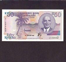 Malawi 50 Kwacha 1994 P-28b * Unc *