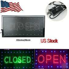 "2in1 Bright Led Open Closed Store Shop Business Sign 10*20"" Display Neon Light"