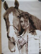 Poster Pferd Cowboy Cowgirl Western Style Plakat Pony Lee Country Westen