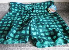 COLUMBIA~Green Checked BOARD SHORTS SWIM WEAR~UPF30~OMNI-SHIELD~Men's 40~NWT