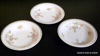"3 pcs JOHANN HAVILAND china PICTURED E424  pattern ~ 3 Rim Berry Bowls ~ 5 3/4"""