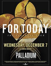 """For Today """"The Farewell Tour 2005 - 2016"""" Worcester Concert Tour Poster"""