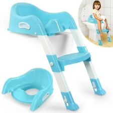 Seat Toilet Training Potty Toddler Baby Kid Child Chair Step Trainer Ladder Blue