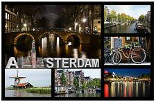 AMSTERDAM - SOUVENIR NOVELTY FRIDGE MAGNET - BRAND NEW - GIFT