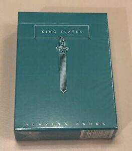 Teal King Slayer Playing Cards Rare Limited Cardistry Ellusionist not Bicycle*
