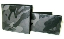 Coach F88270 Men's 3 IN1 Wallet Signature Camouflage Grey Black Multi NWT $178