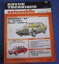 Revue technique  RTA 487 Renault 21 et nevada diesel turbo D