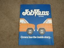 1980's JOB VANS BY CROWN - CROWN VAN CONVERSIONS DEALER ALBUM SALES BROCHURE