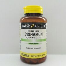 100 Capsules Cinnamon 1000 mg / 2 caps support Sugar Metabolism Heart Health
