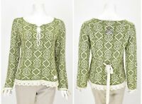 Womens Odd Molly 421 Wool & Cotton Green Jumper Knit Top Size 1 / S / UK8
