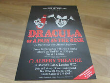 DRACULA OR A PAIN IN THE NECK by Phil Woods ALBERY Theatre Poster