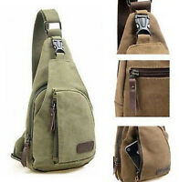 Fashion Mens Canvas Military Messenger Shoulder Travel Hiking Casual Outdoor Bag